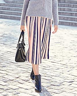 Stripe Pleat Skirt