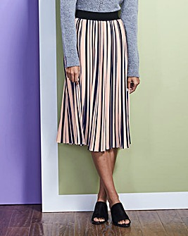 Stripe Pleat Skirt