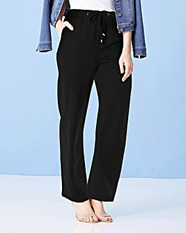 Satin Tapered Leg Trousers Regular