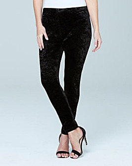 Crushed Velour Stretch Leggings Regular