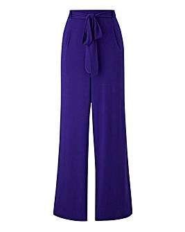 Wide Tie Waist Jersey Trousers Regular