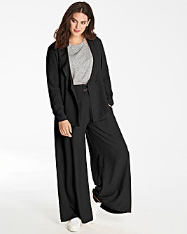 Wide Leg D Ring Belted Trousers Reg