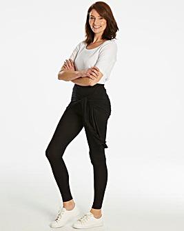 Tie Wrap Stretch Jersey Leggings