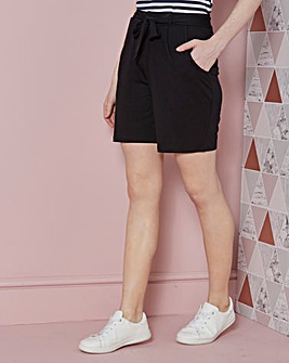 Tie Waist Jersey Shorts