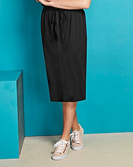Drawstring Waist Sweat Skirt