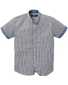 Black Label SS Check Trim Shirt Reg