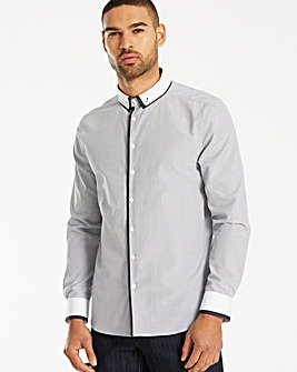 Black Label LS Gingham Trim Shirt L