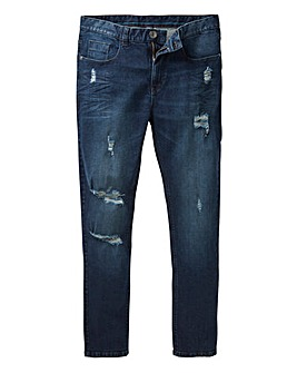 Label J Ripped Wash Skinny Jean 29In