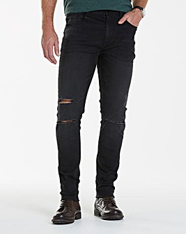 Label J Ripped Wash Skinny Jean 33In