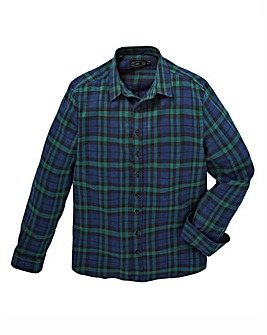 Label J Back Print Check Shirt Long