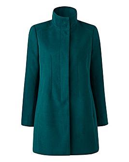 Plain Funnel-Neck Coat