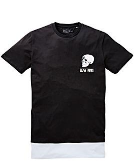 Label J Longline Skull Print t-Shirt R