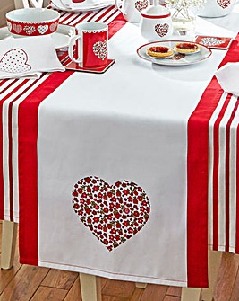 Red Folk Table Runner