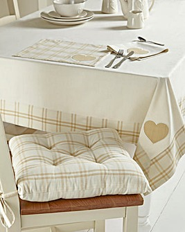 Country Hearts 100% Cotton Table Cloth