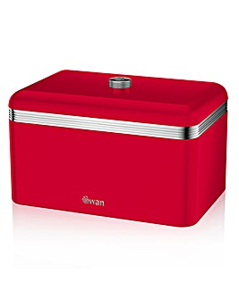 Swan Retro Bread Bin Red