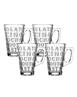 Ravenhead Soho Set of 4 Latte Glasses