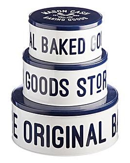 Mason Cash Varsity Set of 3 Cake Tins