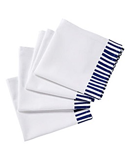 Nautical Blue Set of 4 Printed Napkins
