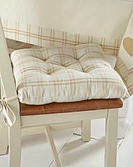 Country Hearts Checked Set 2 Seat Pads