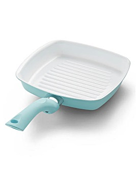 Ceramic Grill Pan Soft Blue