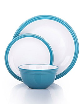 12-Piece Camden Dinner Set Sky Blue