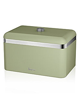 Swan Retro Bread Bin Green