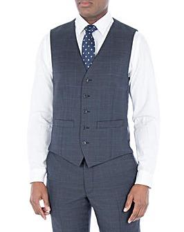 Pierre Cardin Blue Check Waistcoat