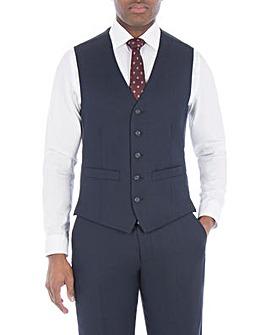 Pierre Cardin Blue Semi Plain Waistcoat
