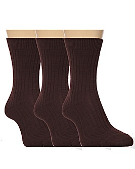 6 Pair Gentle Grip Socks With Insert