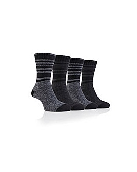 4 Pack Cotton Blend Boot Socks