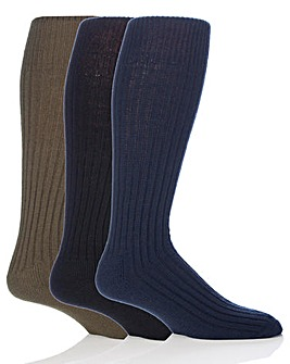 3 Pair Long Military Action Socks