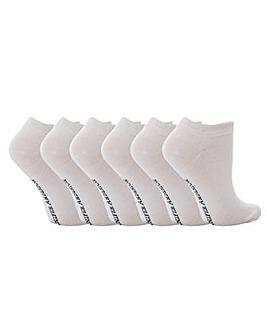 6 Pack Jennifer Anderton Trainer Socks