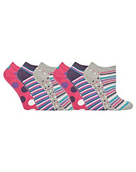 6 Pack Jennifer Anderton Trainer Socks