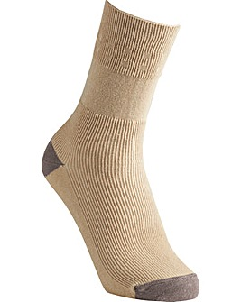 Extra Roomy Cotton Contrast Socks