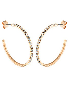 Crystal Glitz Rose Gold Plated J Hoops