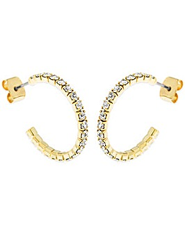 Crystal Glitz Gold Plated J Hoops