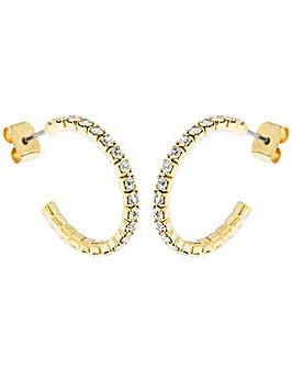 Crystal Glitz Gold Plated J Hoops