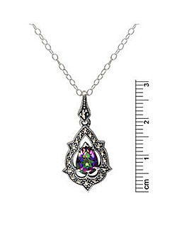 Sterling Silver Mystic Topaz & Marc Neck