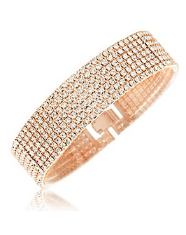 Crystal Glitz Rose Gold Plated Bracelet