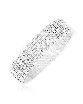 Crystal Glitz Silver Plated Bracelet
