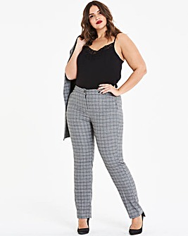 Tapered Check Trousers