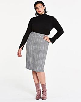 Magisculpt Check Pencil Skirt