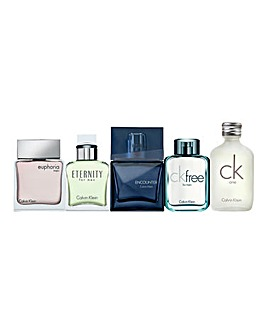 Calvin Klein Mens Mini Fragrance Set