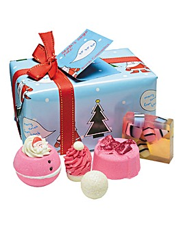 Bath Bomb Santa Sleigh Ride Gift Set