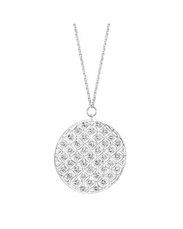 Simply Silver Oversized Disc Necklace