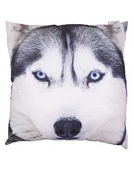 Decorative Wolf Print Cushion