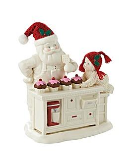 Snowbabies Baking In The Kitchen Santa