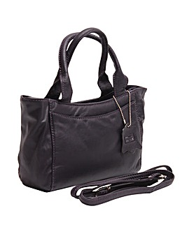 Blousey Brown Genuine Leather Small Grab