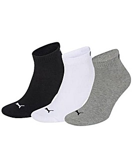 3 Pair Puma Training Quarter Socks