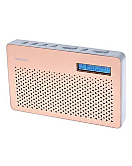 Goodmans Canvas DAB Radio - Copper